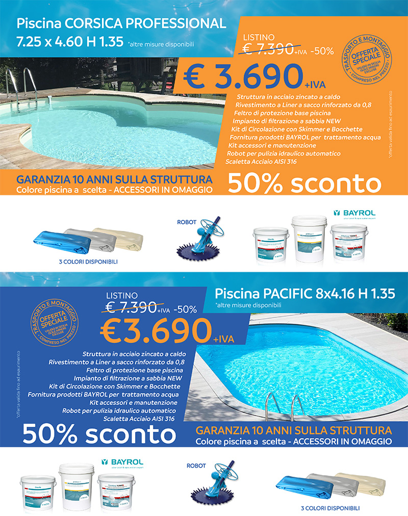 Promo offerta sicilia piscine in kit for Piscine in offerta